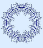 Blue circle design in cut of paper style. Vector illustration. — Stock Vector