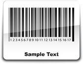 Etykiety kod paskowy z cienia. ilustracja wektorowa. — Wektor stockowy