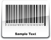 Etiqueta de código de barras con sombra. ilustración vectorial. — Vector de stock