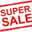 Super sale rubber stamp — 图库矢量图片