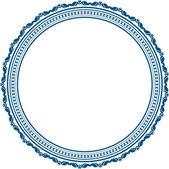 Vintage round frame — Stock Vector
