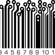 Bar code in PCB-layout style. — Stock Vector #38914649