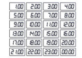 Digital clock & number set — Vector de stock