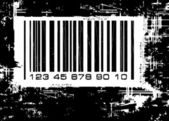 Barcode with grunge background — ストックベクタ