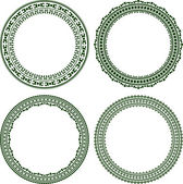 Set of 4 elegant round frames  — Stock Vector