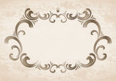 Frame with crown — Stock Vector