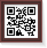 2D barcode whith frame. Vector illustration. — Stock Vector