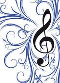 Musical decor  — Stock Vector