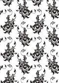 Nahtlose Muster mit Blumen — Stockvektor