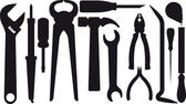 Set of silhouettes of tools — Vector de stock