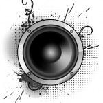 Abstract grunge speaker design — Stock Vector #46322045