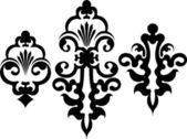Set of 3 decorative elements — Stock Vector
