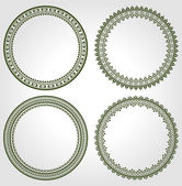 Set of round frames  — Stock Vector