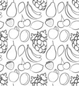 Fruits seamless patterns — Stock Vector