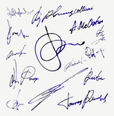 Signature Vector Autograph Name — Vector de stock