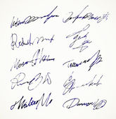Signature Vector Autograph Name — Stockvektor