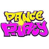 Dance Party Graffiti Urban Art Design — Stock Vector