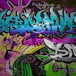 Graffiti wall vector urban art — Stock Vector #13501263
