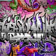 Stock Vector: Graffiti wall vector urban art