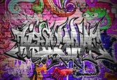 Graffiti wall vector urban art — Stock Vector