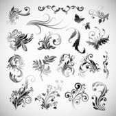 Vector Ornament Flowers Vintage Design Elements — Stock Vector