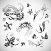 Ornament wektor kwiaty sztuka projektowania elementów — Wektor stockowy