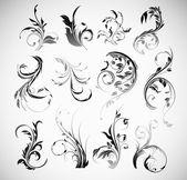 Vecteur des éléments de design vintage ornement fleurs — Vecteur