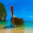 Krabi long tail boat. Summer vacation in Thailand. — Stock Photo