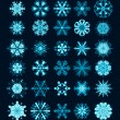 snöflingor jul vector ikoner. Snow flake samling grafik — Stockvektor  #14325305