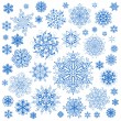 Stok Vektör: Snowflakes Christmas vector icons. Snow flake collection graphic