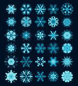 Icônes vectorielles de flocons de neige noël. graphique de collection flocon neige — Vecteur