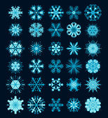 Snowflakes Christmas vector icons. Snow flake collection graphic — ストックベクタ