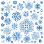 Snowflakes Christmas vector icons. Snow flake collection graphic — Vetorial Stock