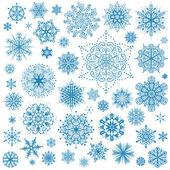 Iconos vectoriales de copos de nieve navidad gráfico de colección de escama de nieve — Vector de stock