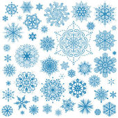 Snowflakes Christmas vector icons. Snow flake collection graphic — Vettoriale Stock