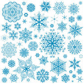 Snowflakes Christmas vector icons. Snow flake collection graphic — Stok Vektör