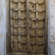 Old wooden door vintage background - Stock Photo