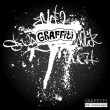 Graffiti ink frame. Artistic grunge banner design, funky vector  — Stock Photo