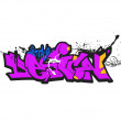 Graffiti background, urban art — Stock Photo