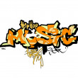 Graffiti music background, urban art — Stock Photo