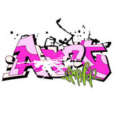 Graffiti bakgrund, urban konst — Stockfoto