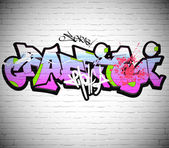 Graffiti wall background, urban art — Stock Photo