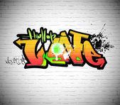 涂鸦墙背景、 城市艺术 — 图库照片