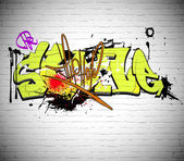 Graffiti wall background, urban art — Stok fotoğraf