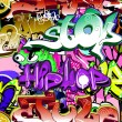 Graffiti wall. Urban art vector background. Seamless hip hop tex — Stock Vector #21388615