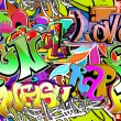 Graffiti wall. Urban art vector background. Seamless hip hop tex — Stock Vector #21388795