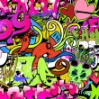 Graffiti wall art background. Hip-hop style seamless texture pat — Stock Vector #21389789