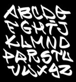 Graffiti font alphabet letters. Hip hop type grafitti design — Stock Vector