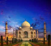 Taj Mahal India Sunset — Stock Photo
