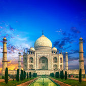 Taj Mahal India Sunset — Stock Photo